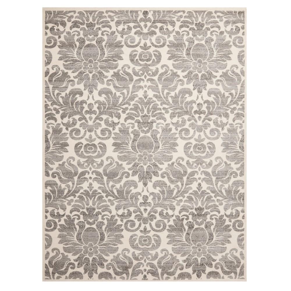 Gray/Ivory Floral Loomed Area Rug 8'X11'2 - Safavieh, Graynivory