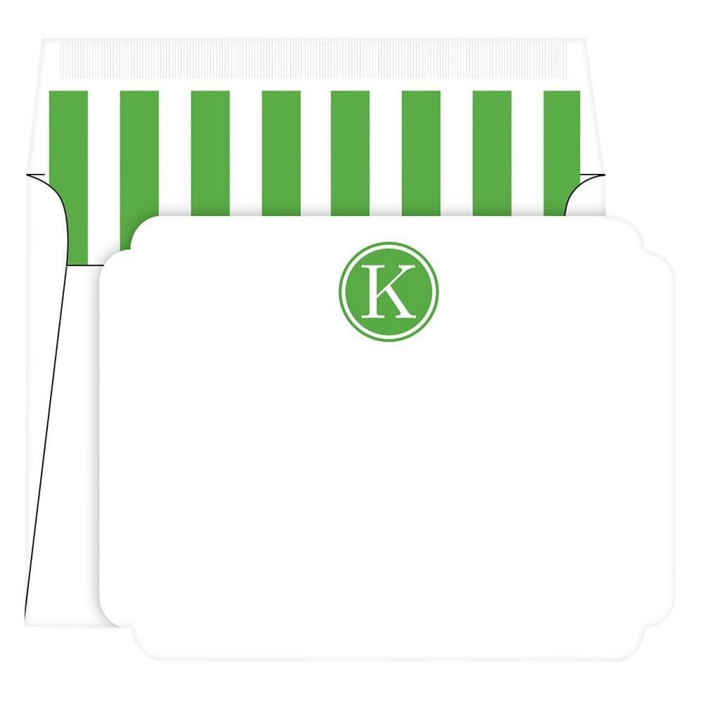 Die-Cut Social Set Preppy Stripe Monogram - K