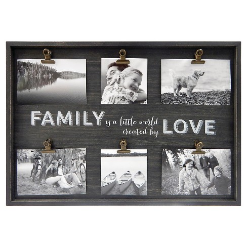 Clip Frame Family Love Holds 4x4 And 4x6 Photos Target