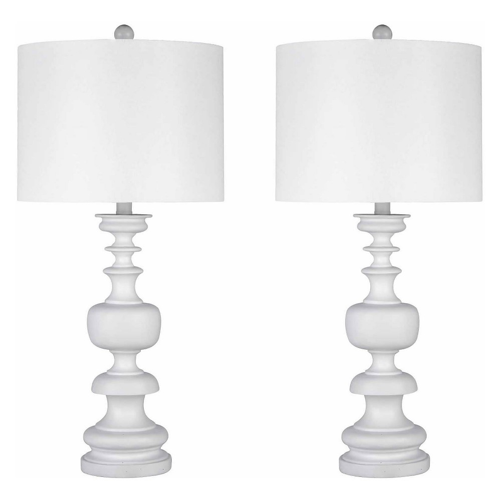(Set of 2) Ana Spiral Table Lamp White (Lamp Only) - Abbyson Living