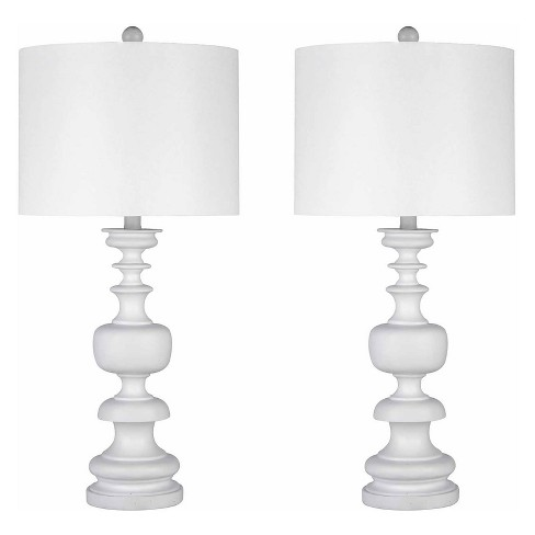 Set of 2 Ana Spiral Table Lamps White (Lamp Only) - Abbyson Living - image 1 of 4