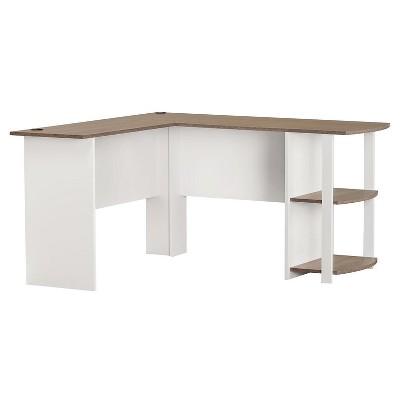 Fieldstone L-Shaped Desk with Bookshelves - White - Room & Joy