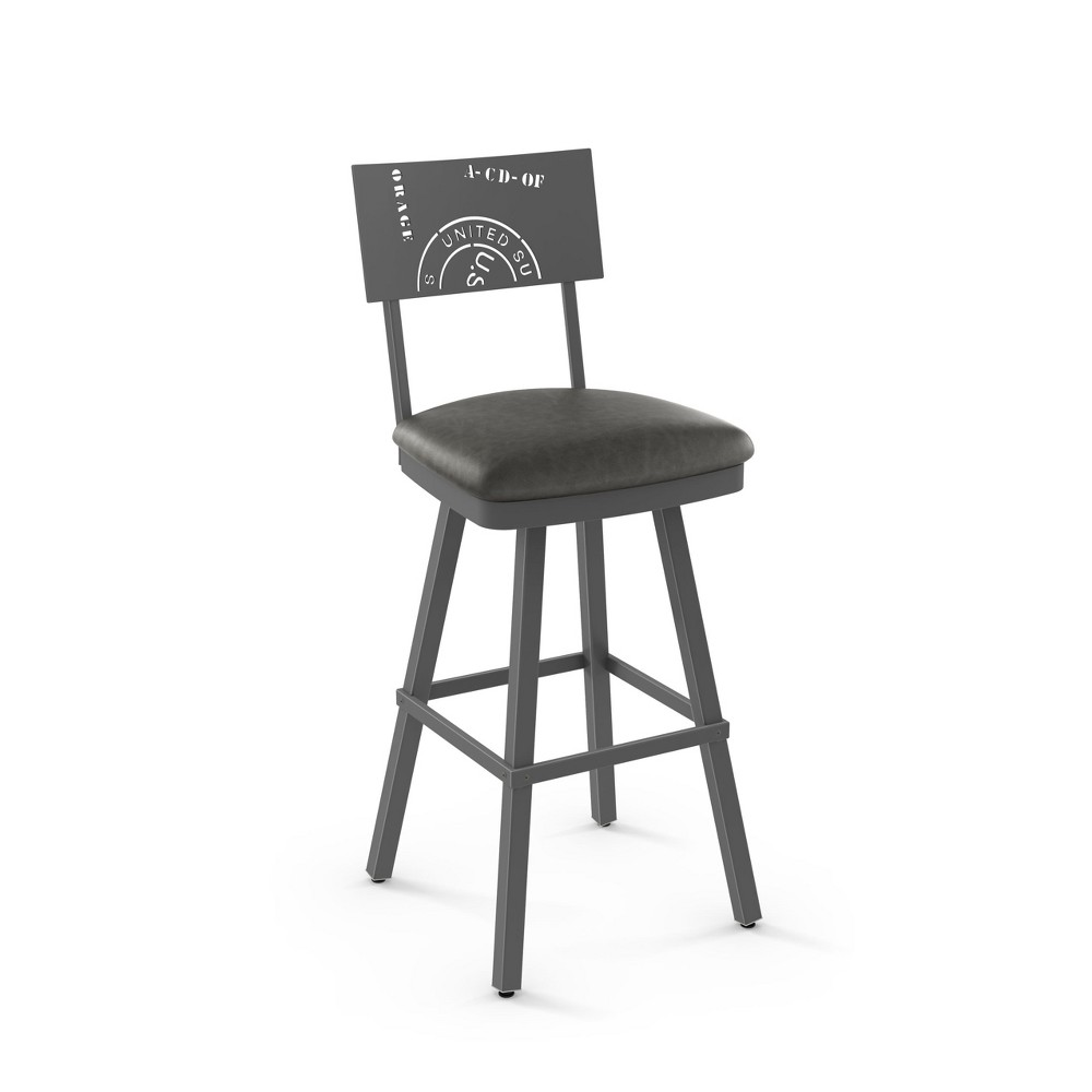 "Image of ""25.25"""" Amisco Wilson Counter Stool Gray"""