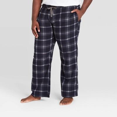Men's Big & Tall Plaid Microfleece Pajama Pants - Goodfellow & Co™ Blue