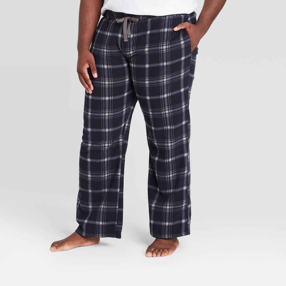 Men 39 S Big 38 Tall Plaid Microfleece Pajama Pants Goodfellow 38 Co 8482 Blue 5xbt