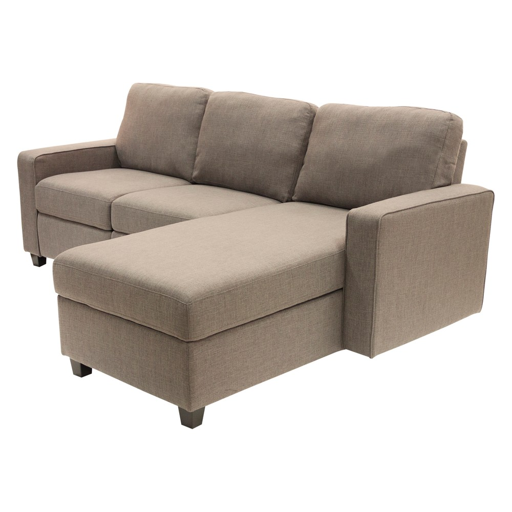 Palisades Reclining Sectional with Right Storage Chaise Oatmeal - Serta