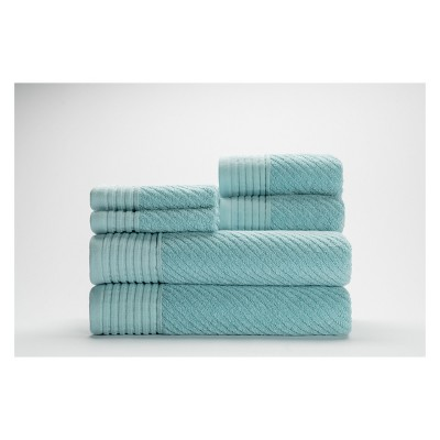 6pc Beacon Pastel Turquoise Bath Towels Sets - Caro Home