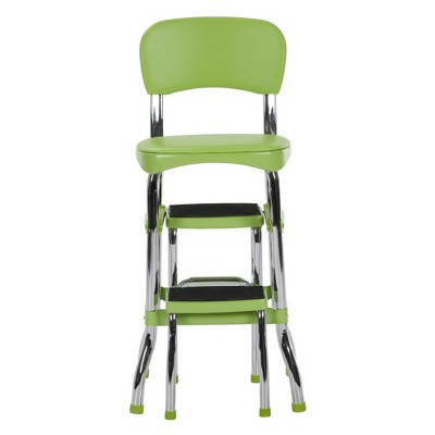 Etonnant Retro Counter Chair With Step Stool Green   Cosco