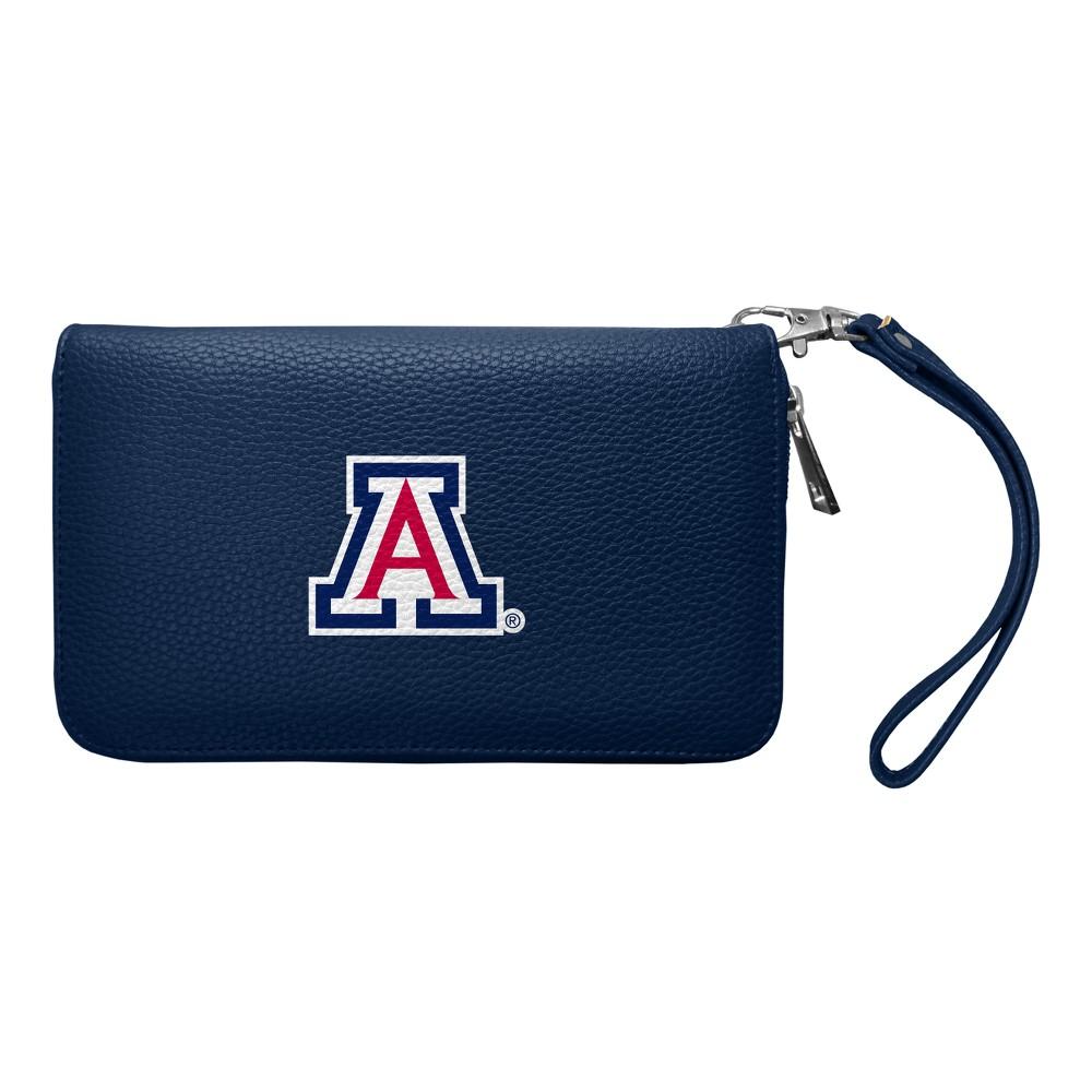 NCAA Arizona Wildcats Zip Pebble Organizer Wallet, Adult Unisex
