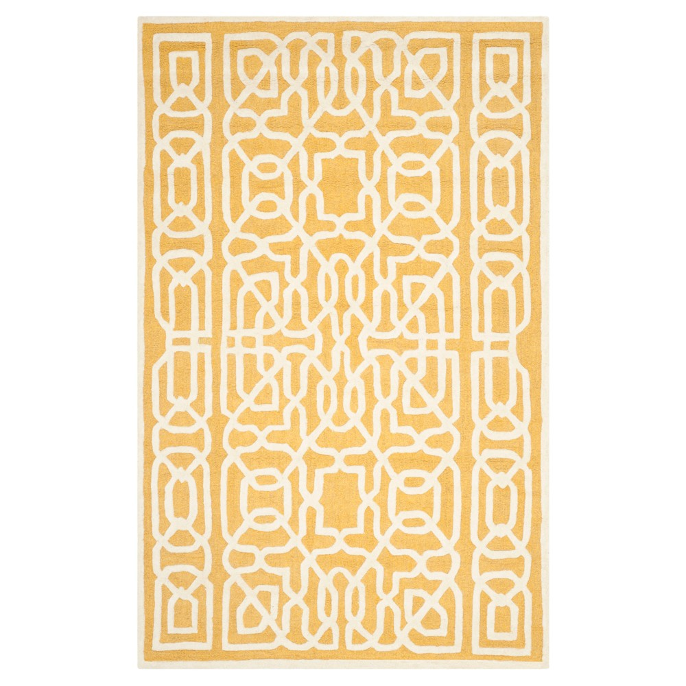 Safavieh Wooster Area Rug - Gold / Ivory ( 5' X 8' ), Gold/Ivory