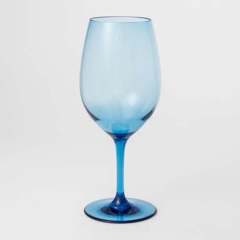 Acrylic Wine Glass 21oz Blue - Threshold™ - image 1 of 1