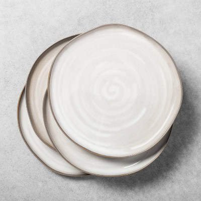 4pk Stoneware Reactive Glaze Dinner Plate Set Gray - Hearth & Hand™ with Magnolia