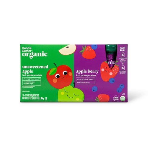 Organic Unsweetened Apple and Apple Berry Variety Pack - 12ct - Good & Gather™ - image 1 of 3