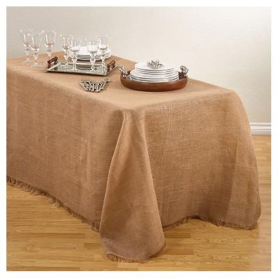 Burlap Tablecloth Natural (90 x120 )