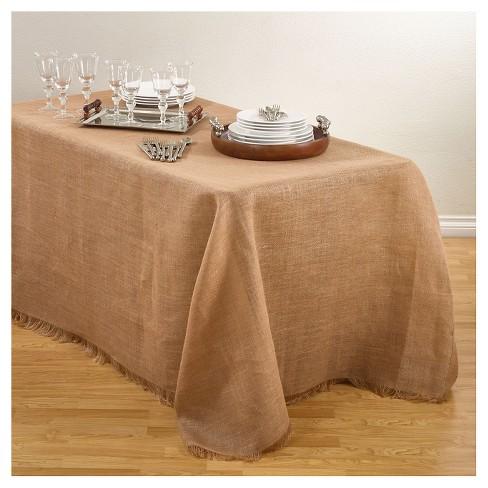 Burlap Tablecloth Natural 90 X120 Target