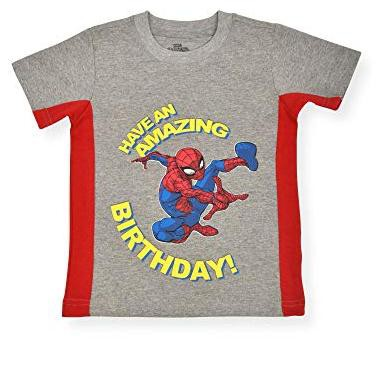 Marvel Boy's Spider-man Have An Amazing Birthday Short Sleeve Shirt For Kids