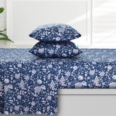 300 Thread Count Organic Cotton Deep Pocket Printed Sheet Set - Azores Home