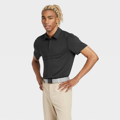 Men's Jersey Golf Polo Shirt - All in Motion™ Black M