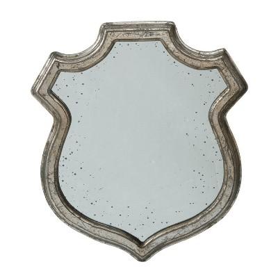 "18"" x 21"" Empire Crest Medium Mirror Distressed Silver - A&B Home"