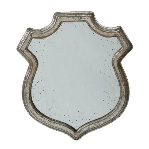 Medium Wide Empire Crest Mirror Silver - A&B Home - image 1 of 2