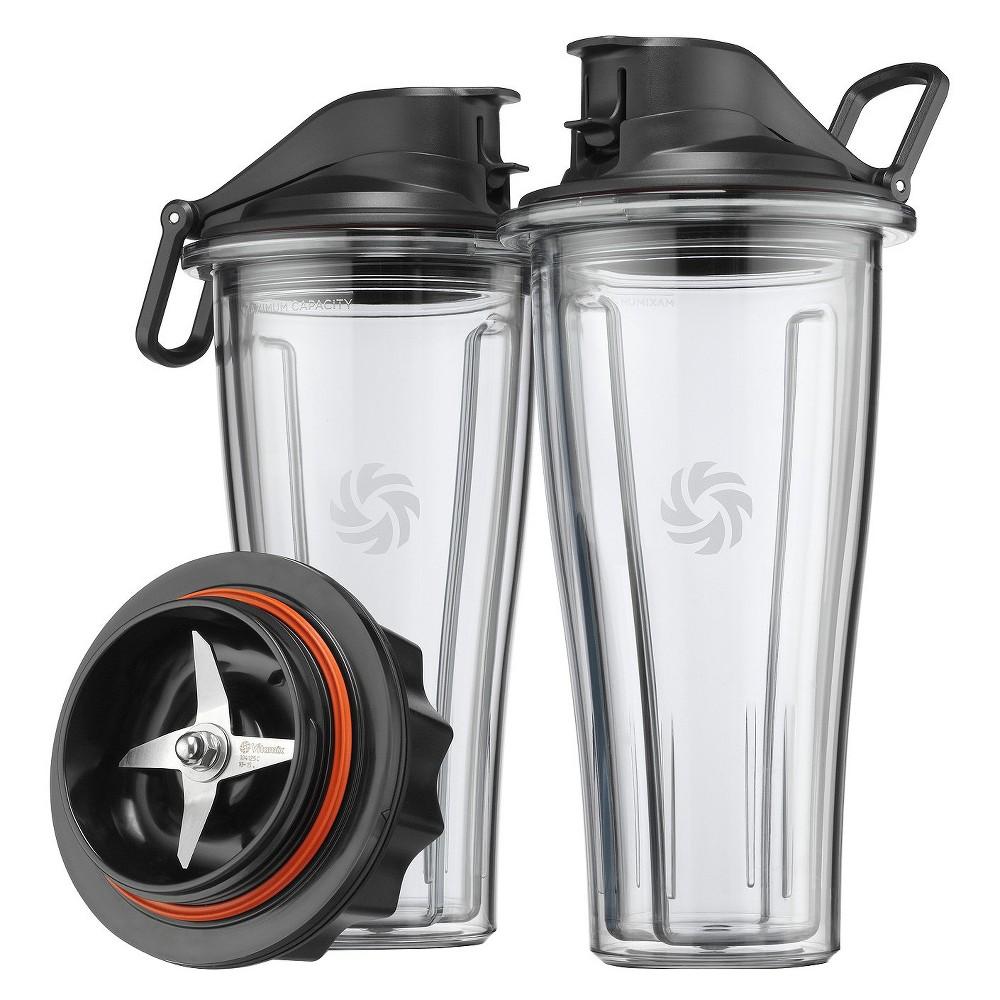 Vitamix 066197 Blending Cups Starter Kit , Clear Black