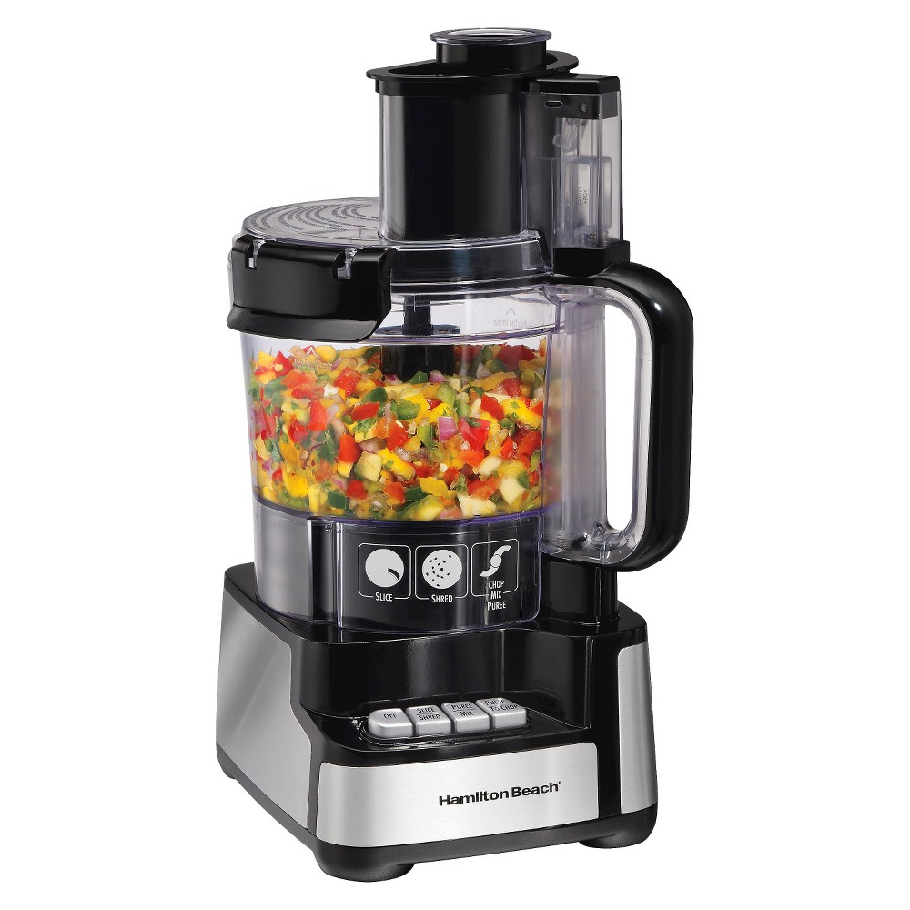 Hamilton Beach Stack and Snap 12 Cup Food Processor – Black 70725 15075792