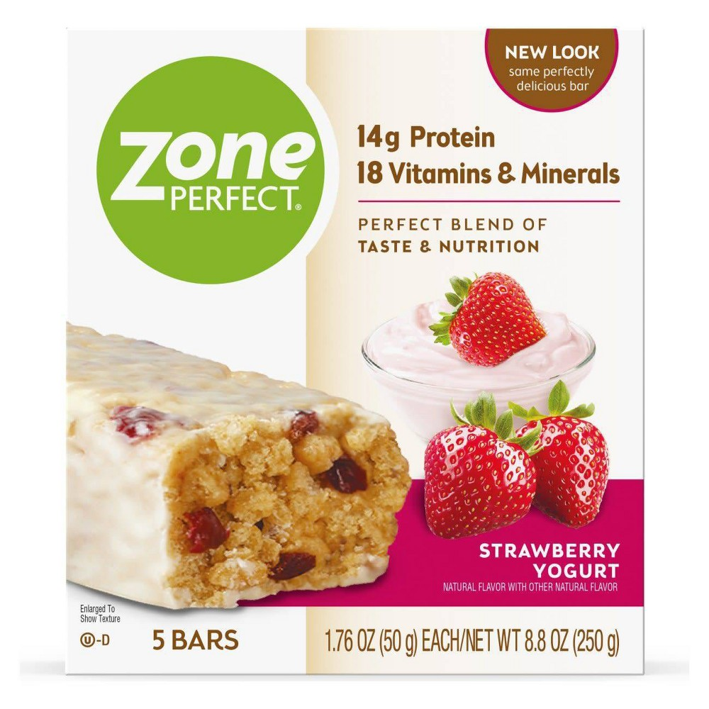 Zoneperfect Protein Bar Strawberry Yogurt 5 Ct 8 8oz