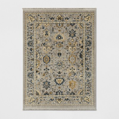 5'X7' Damask Woven Persian Boarder Rug Gray - Threshold™