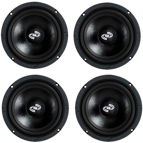 4) Pyle Pro 8 Inch 360 Watt 8-Ohm Black Driver Mid Range Audio Speakers | PDMR8 - image 1 of 4