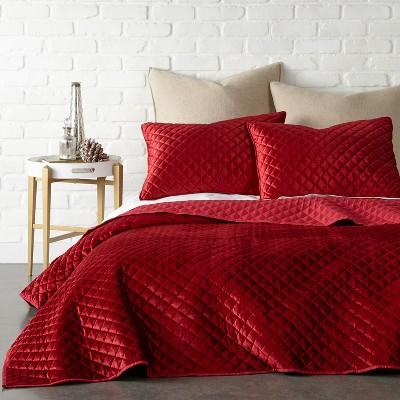 Red Velvet Holiday Quilt Set - Levtex Home
