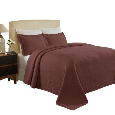 Textured Jacquard Matelassé Solid Oversized Cotton Bedspread Set - Blue Nile Mills