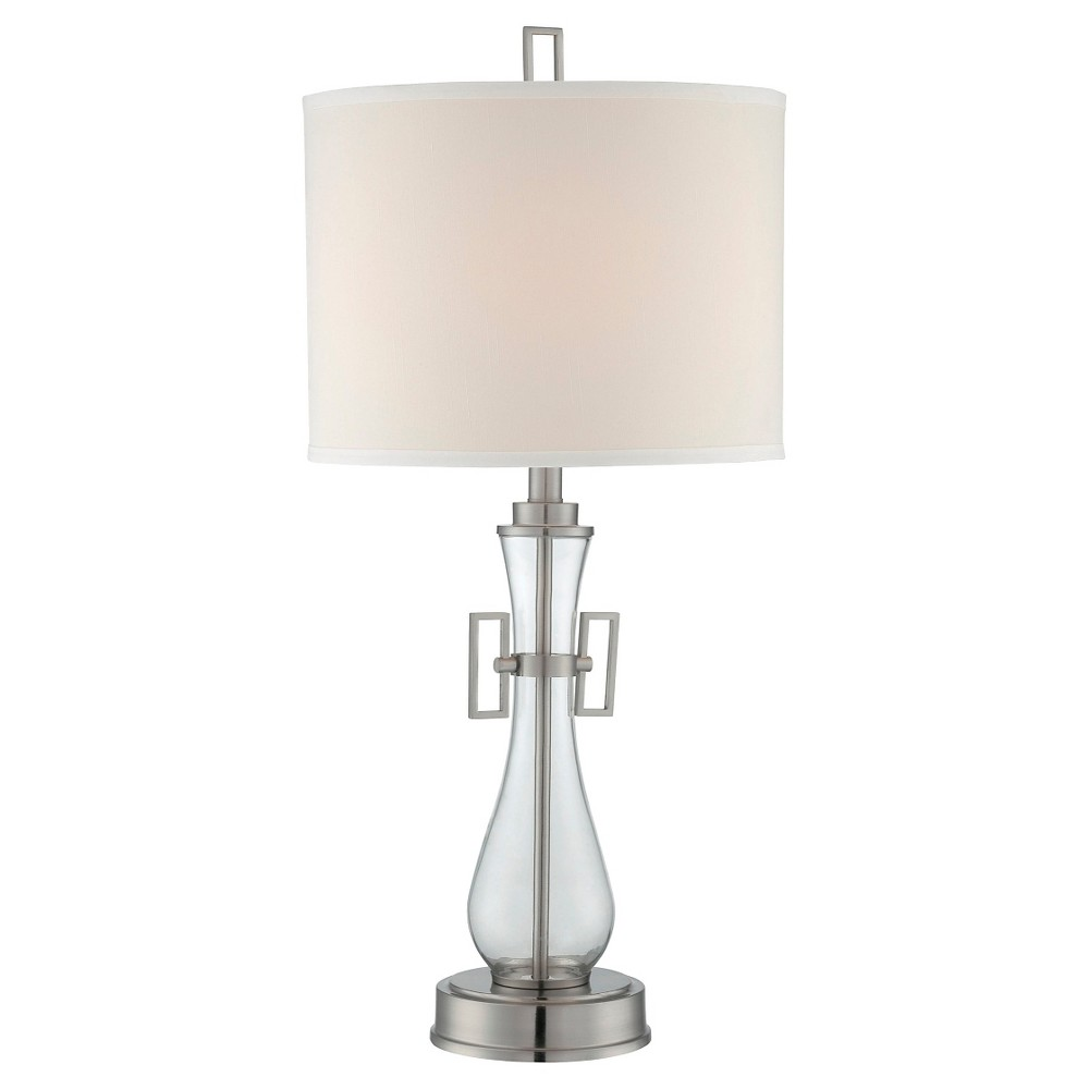 Dyani 1 Light Table Lamp (Lamp Only) - Steel/Clear, Silver/Clear/Off White