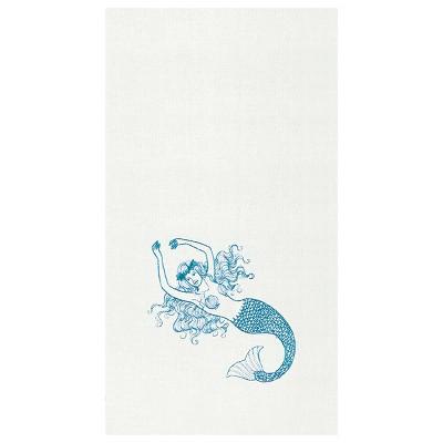 C&F Home Cora Mermaid Hemstitch Decorative Guest Towel