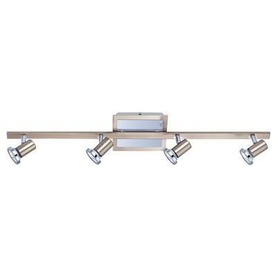 "Rotello - 4 Ceiling Track Light 30.75 "" Long Matte Nickel & Chrome - Eglo"