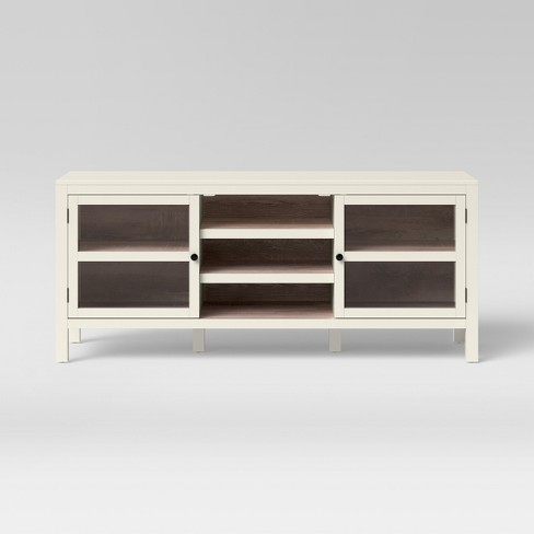 Hadley Large Media Cabinet Shell White - Threshold™ - image 1 of 3