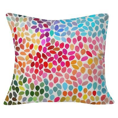 Pink Garima Dhawan Rain Throw Pillow (20 x20 )- Deny Designs®