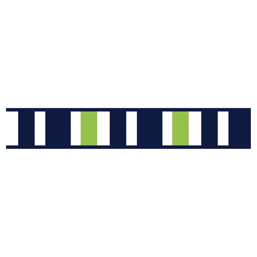 Image of Navy & Lime Stripe Wall Border - Sweet Jojo Designs