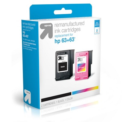 HP 63 Replacement Combo 2pk Ink Cartridges - Black/Tri-color (TAR63CP)- Up&Up™