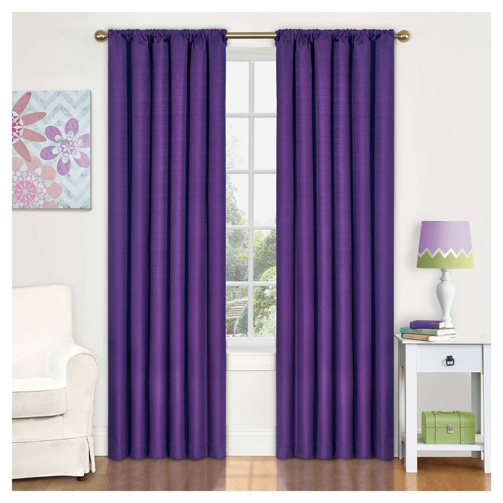 "Image of ""Eclipse My Scene Kendall Blackout Window Panel - Purple (42"""" X 63""""), Size: 42X63"""