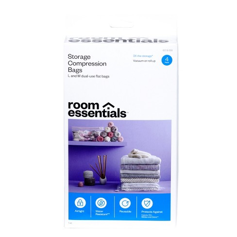 Compression Bags 4 Bag Combo Clear - Room Essentials™ - image 1 of 4