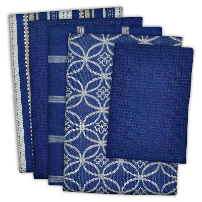Dishtowel & Dishcloth Set Of 5 Nautical - Design Imports