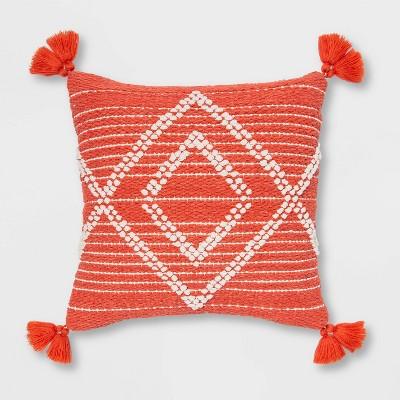 Embroidered Textured Diamond Throw Pillow - Opalhouse™