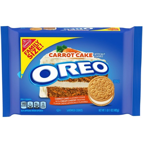 Oreo Carrot Cake Sandwich Cookies Family Size - 17oz - image 1 of 4