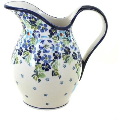 Blue Rose Polish Pottery Vintage Violet Pitcher