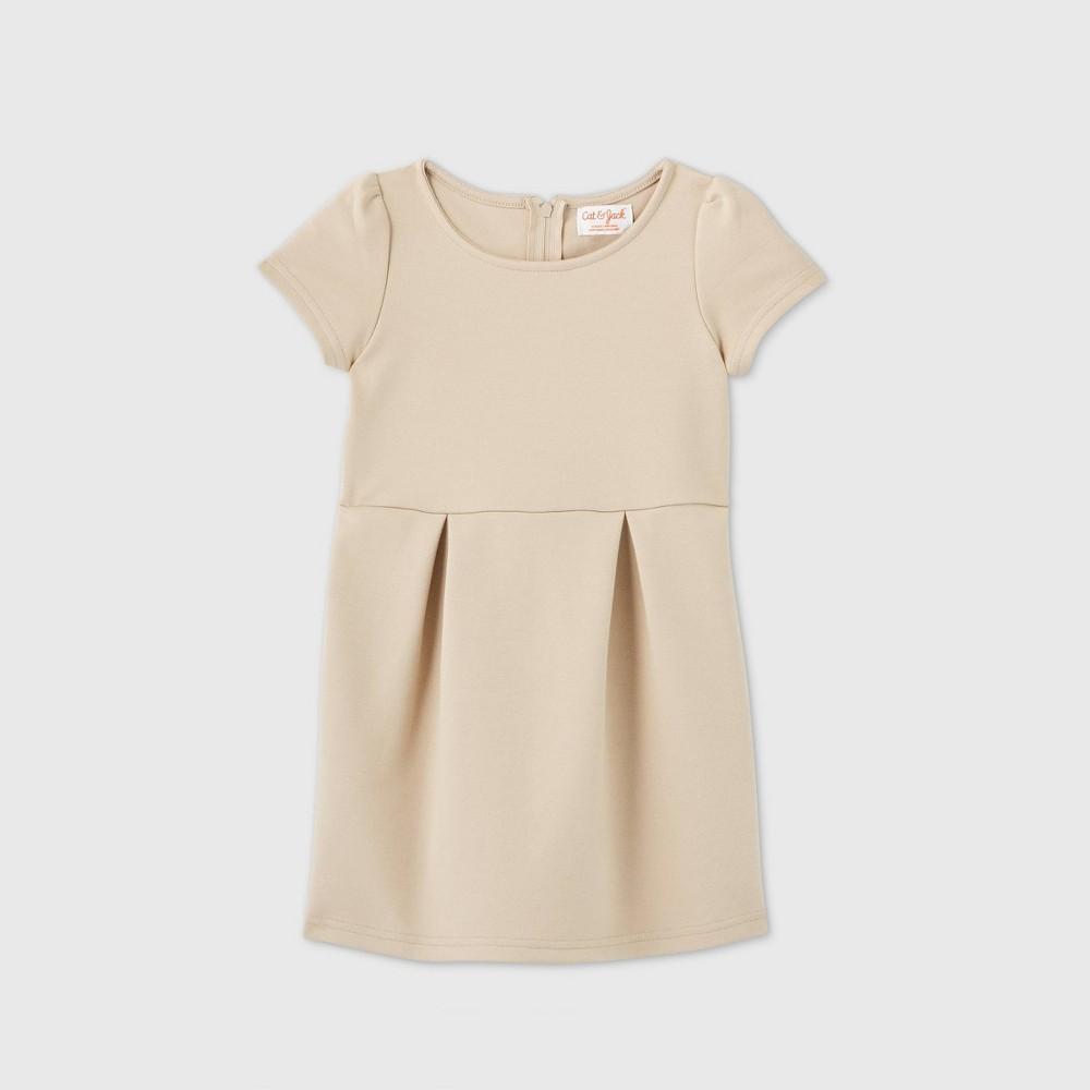 Toddler Girls 39 Stretch Short Sleeve Uniform Knit Dress Cat 38 Jack 8482 Beige 5t