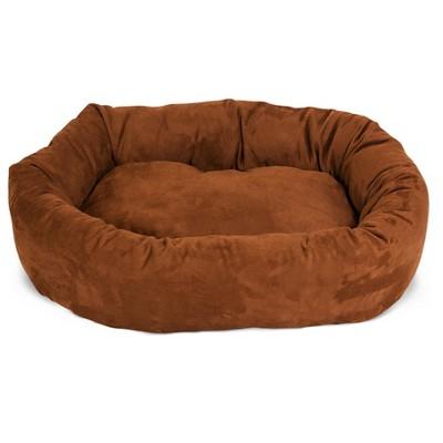 Majestic Pet Suede Bagel Bed - Copper