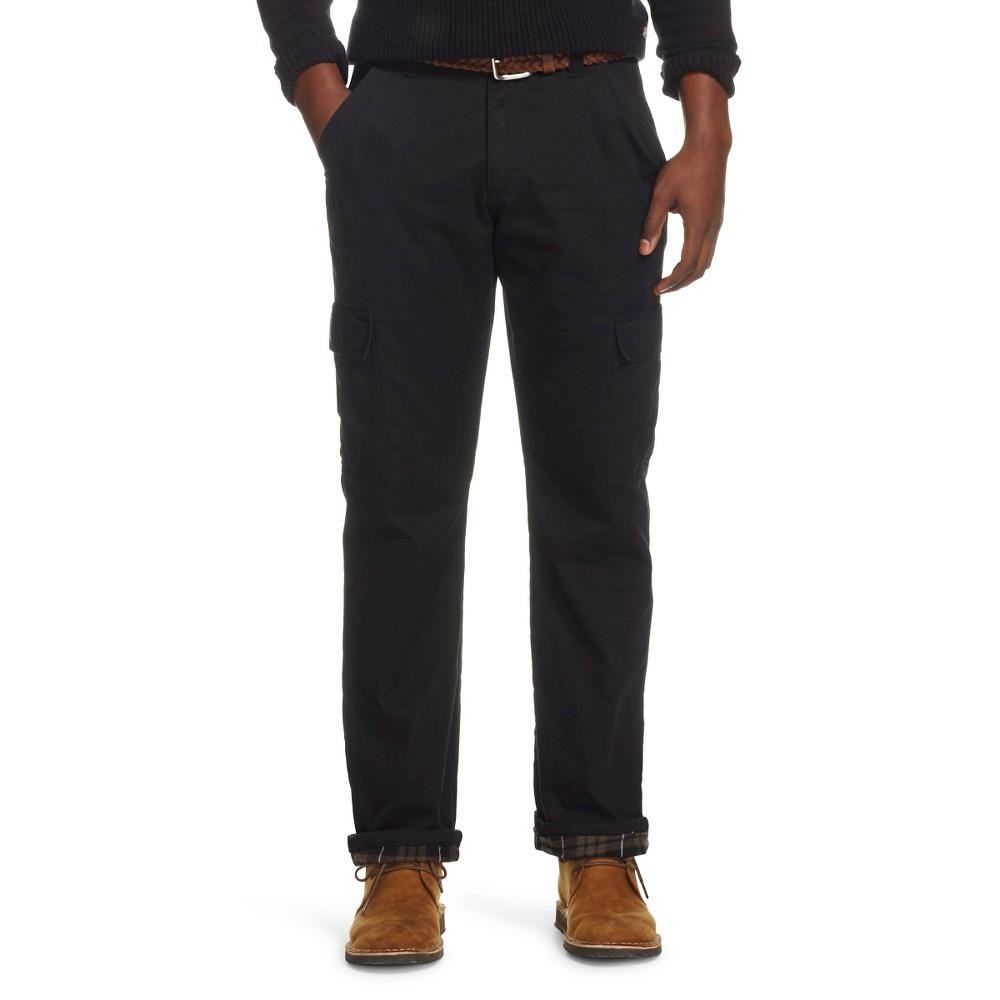 Wrangler Men's Flannel Lined Cargo Pants Black 32X34
