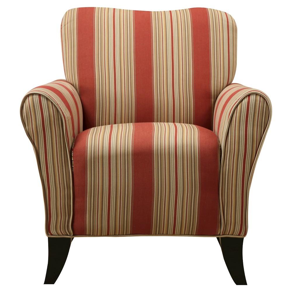 Sean Arm Chair - Crimson Red Stripe - Handy Living