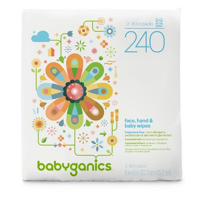 Babyganics Baby Wipes - 240ct