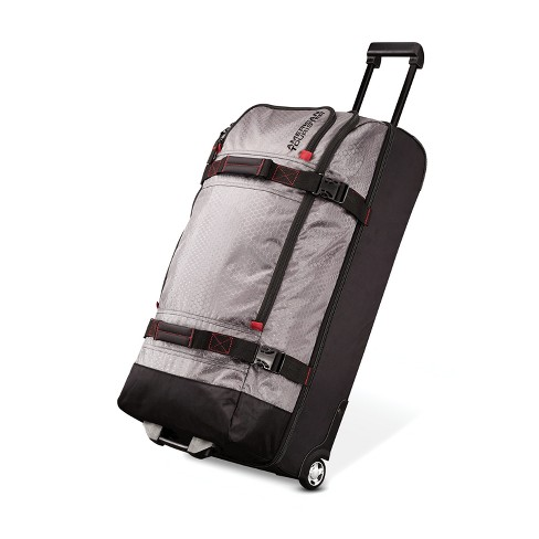 """American Tourister 30"""" Aeropack Wheeled Spinner Duffel Bag - Charcoal/Red - image 1 of 4"""